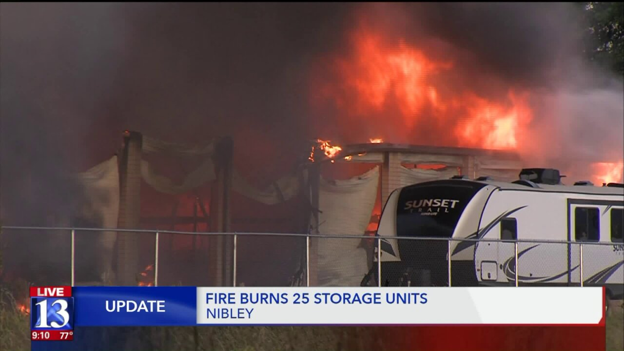 4-alarm fire at Cache Valley storageunits