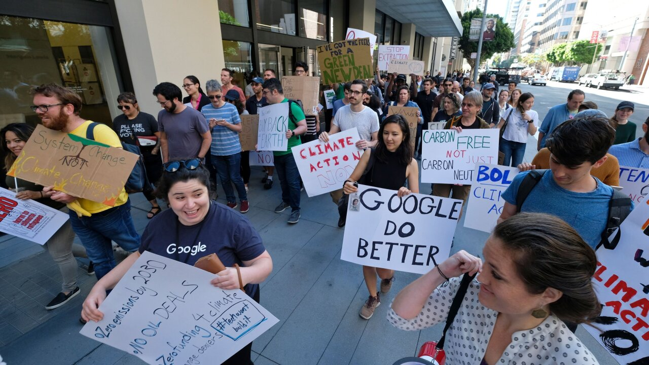Google workers pen open letter to company demanding climate action