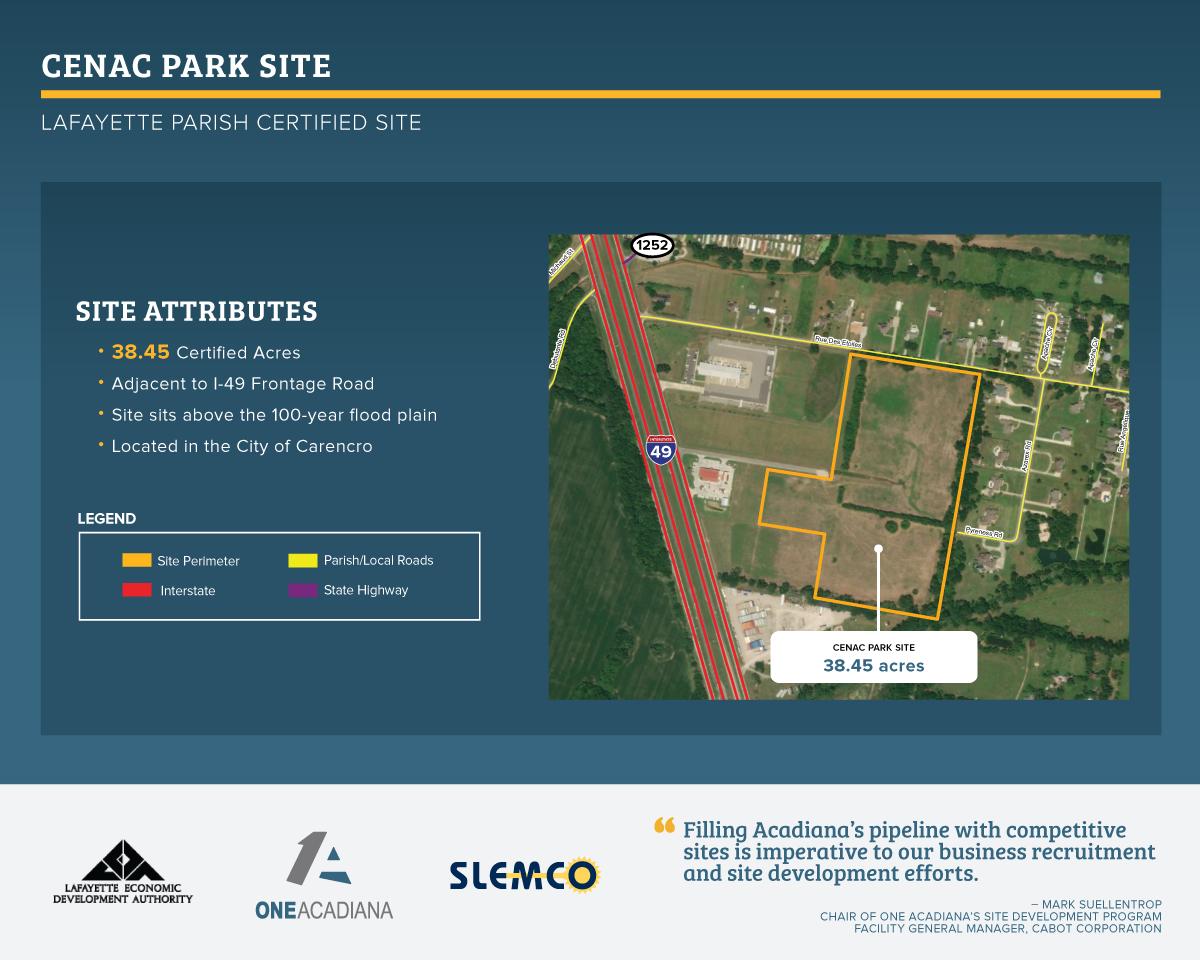 Cenac Park Site - 1A site certification.png