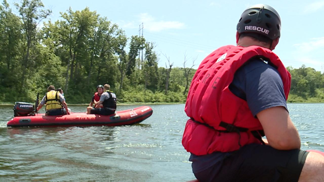 lenexa fire department water rescue training
