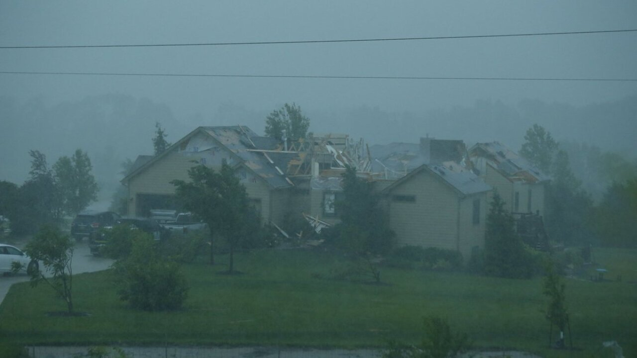 Tornado hammers town in Kansas. Dozens of homes 'all gone'