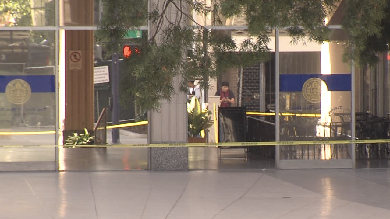 suspicious package city hall 03.25