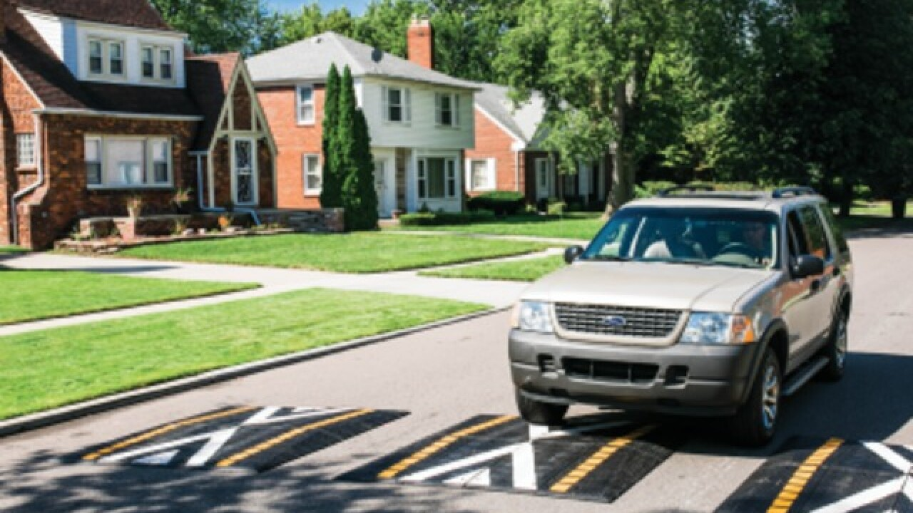 Detroit neighborhoods to get speed humps to 'improve traffic safety'