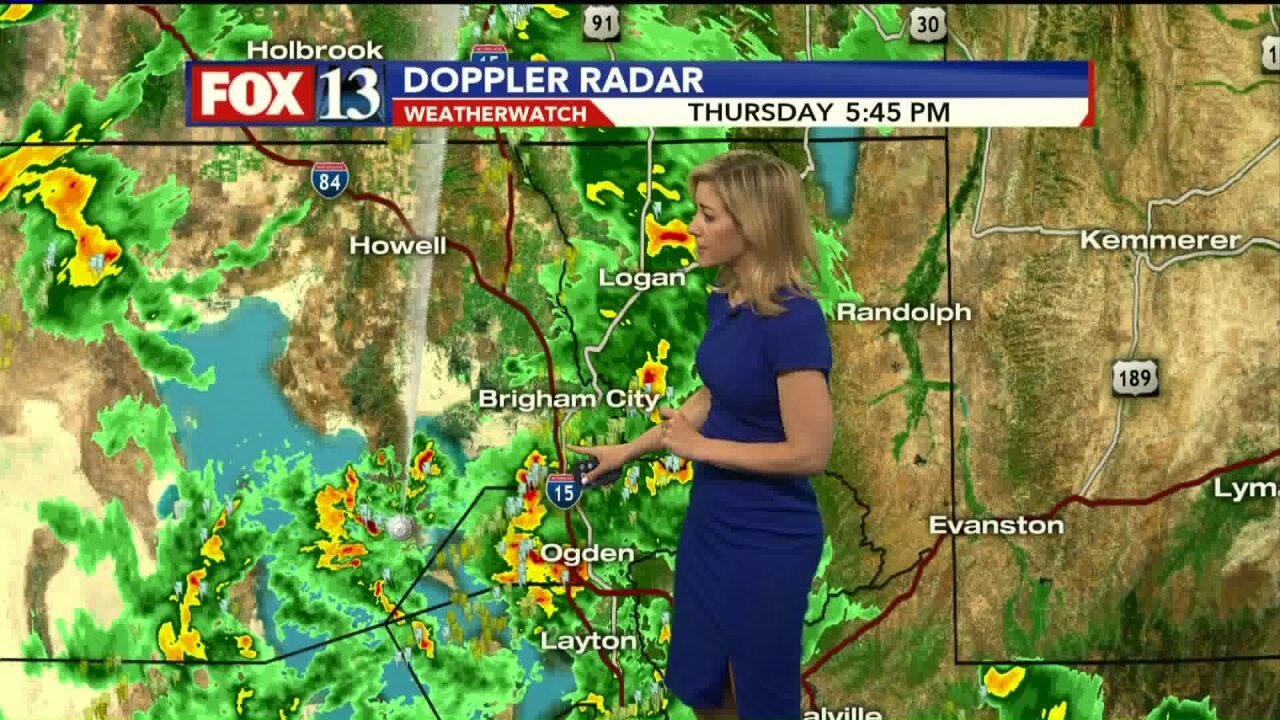 Urban flooding advisory in effect for northern Wasatch Front; additional severe thunderstorm warnings issued