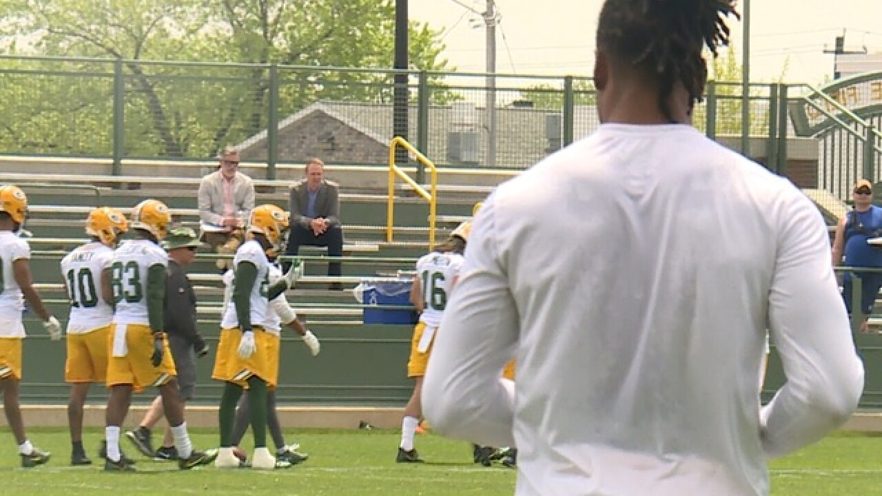 Davante Adams did not participate in OTA's Tuesday due to hamstring, minor injuries