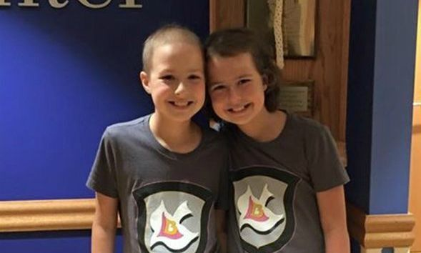 Photos: 10-year-old twins fight leukemiatogether