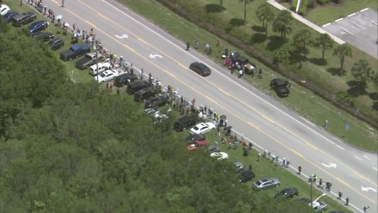 A group of protesters gathered in Indian River County on Sunday across from the Indian River County Sheriff's Office facility.