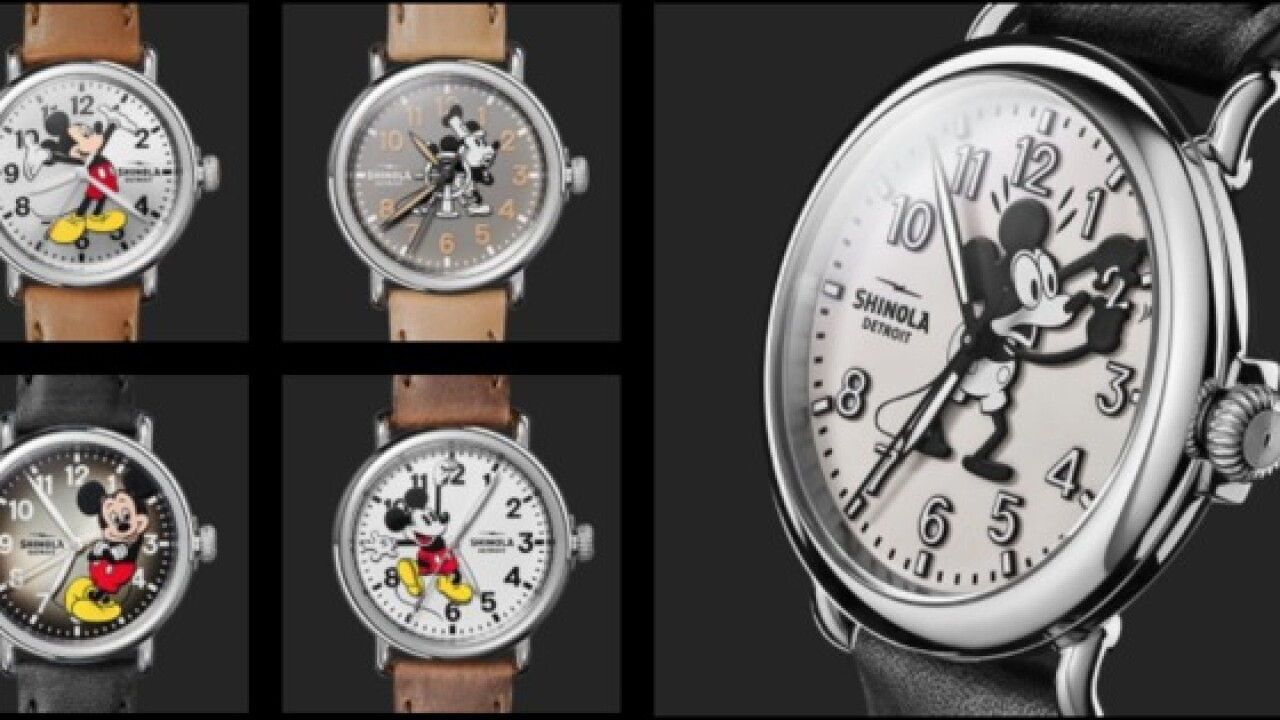 Shinola & Disney partner for special-edition collection for Mickey Mouse anniversary