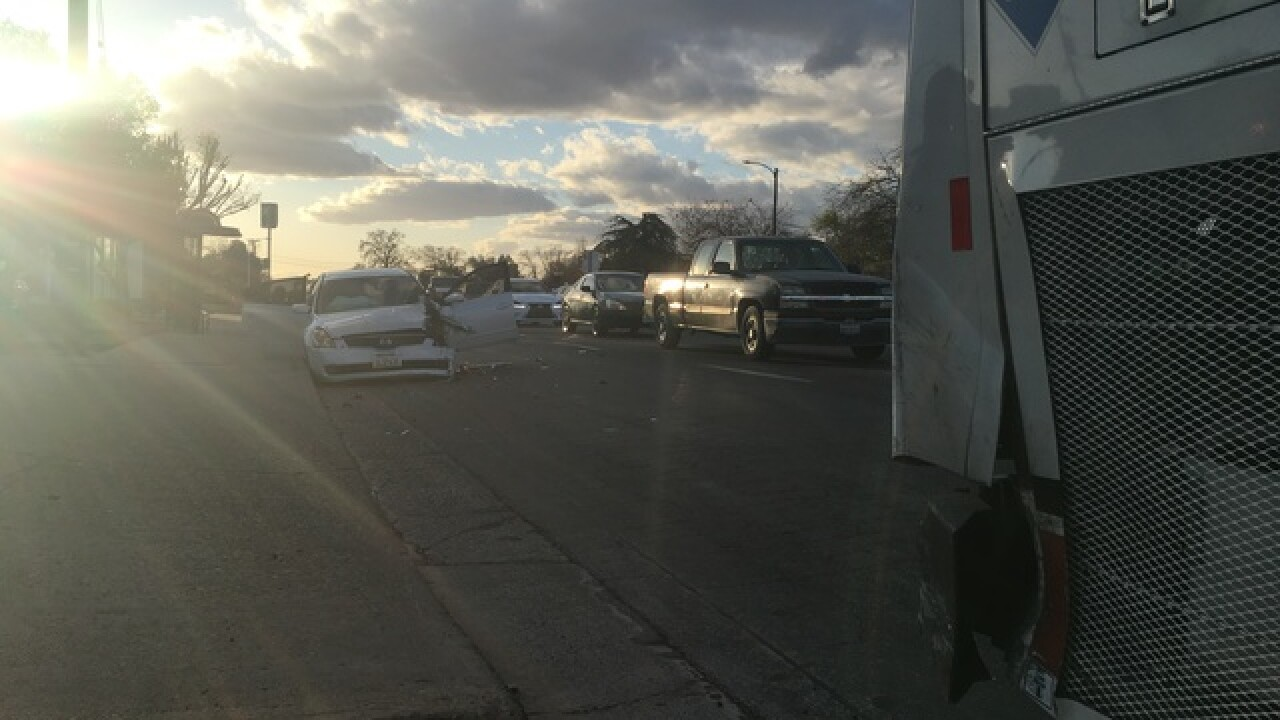 REPORT: Chase ends in crash at Ming Ave., S. H