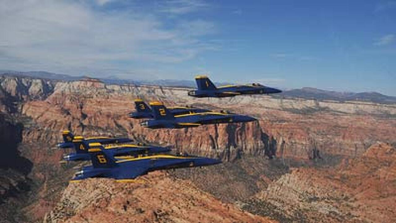 Blue Angels at air show in St. George