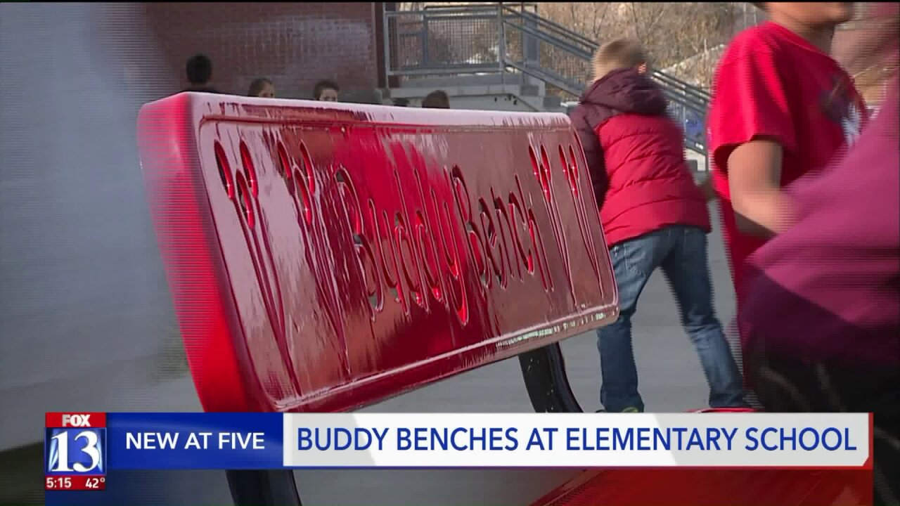 Magna elementary school uses 'buddy benches' to battlebullying