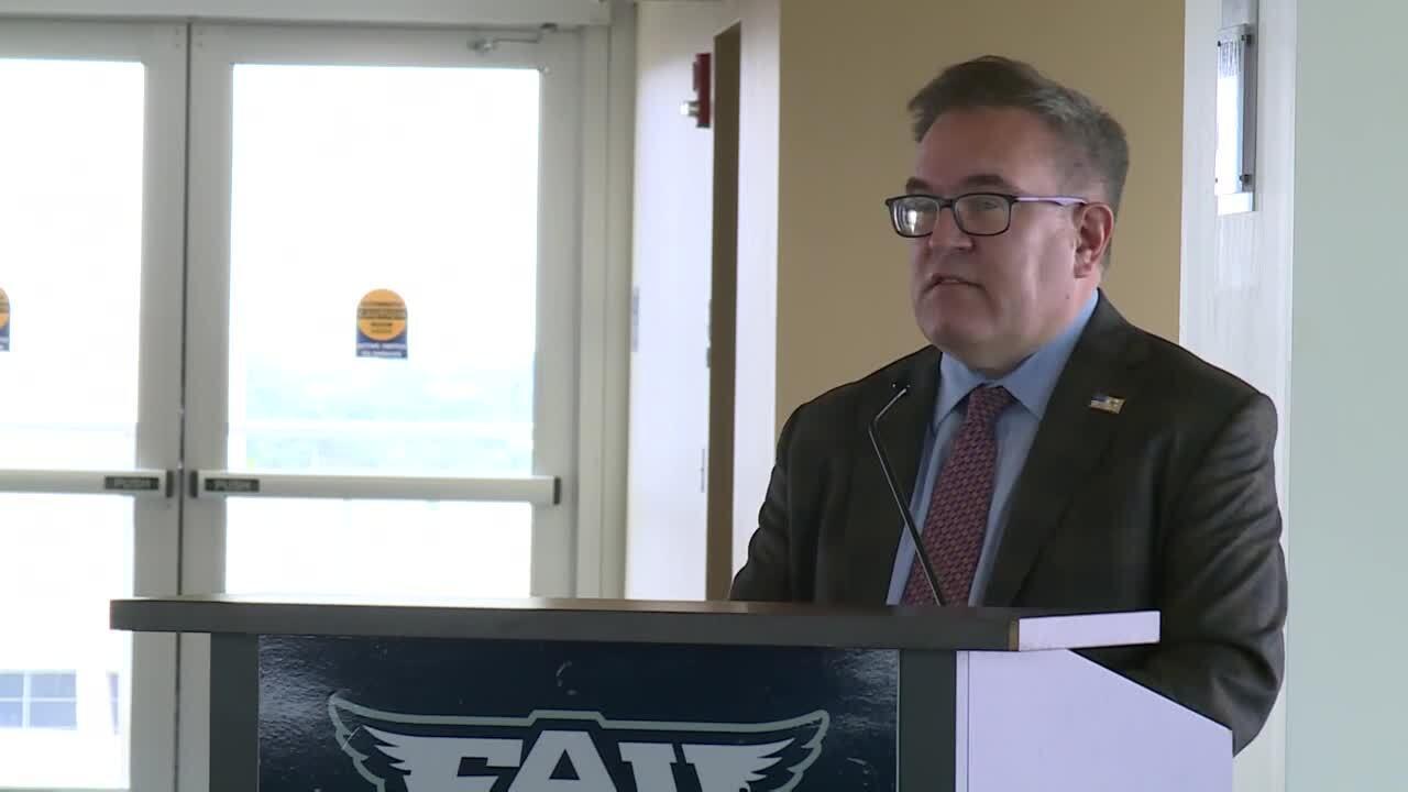 EPA Administrator Andrew Wheeler speaks at FAU