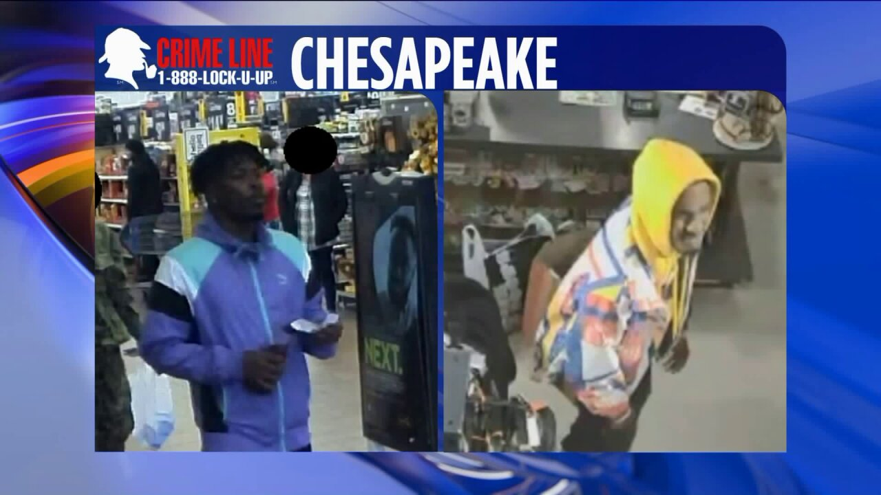 Chesapeake Police need help identifying suspects wanted for credit cardfraud