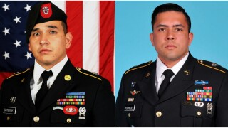 Sgt. 1st Class Javier J. Gutierrez, 28, of San Antonio, Texas and Sgt. 1st Class Antonio R. Rodriguez, 28, of Las Cruces, New Mexico. (U.S. Army Special Operations Command via AP)