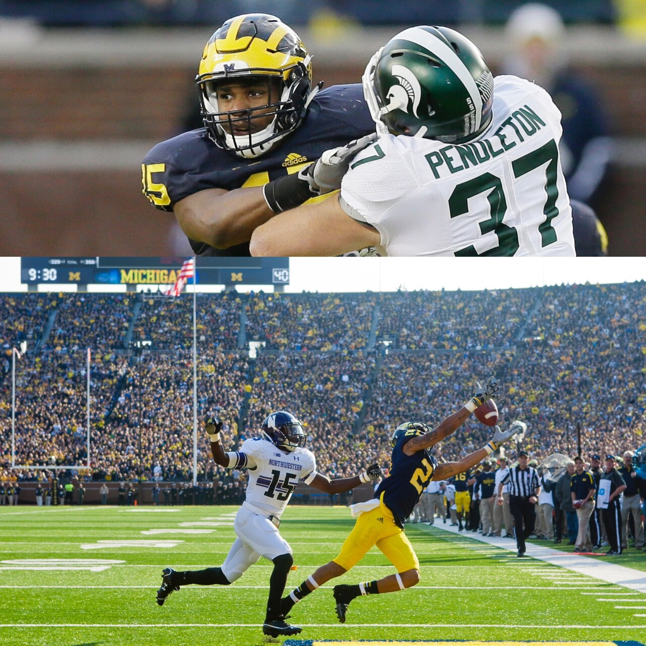 James Ross III, Roy Roundtree in Michigan playing days