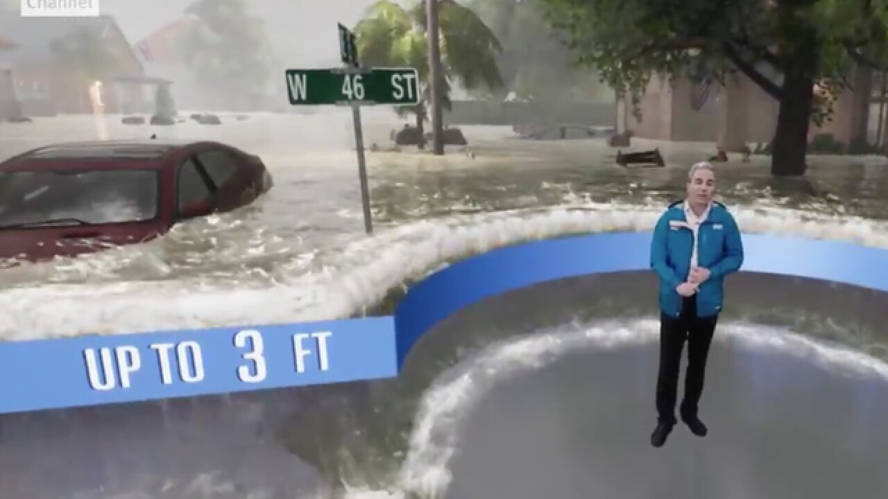 Scary video shows possible Florence storm surge