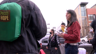 Woman provides food and clothing for unhoused community in Downtown Denver twice a week