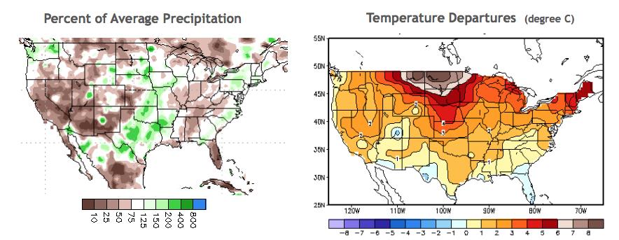 The Last 30 Days Precipitation & Temperature