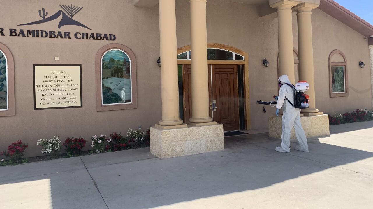 Las Vegas cleaning company claims spray treatment kills 99.9% of COVID-19