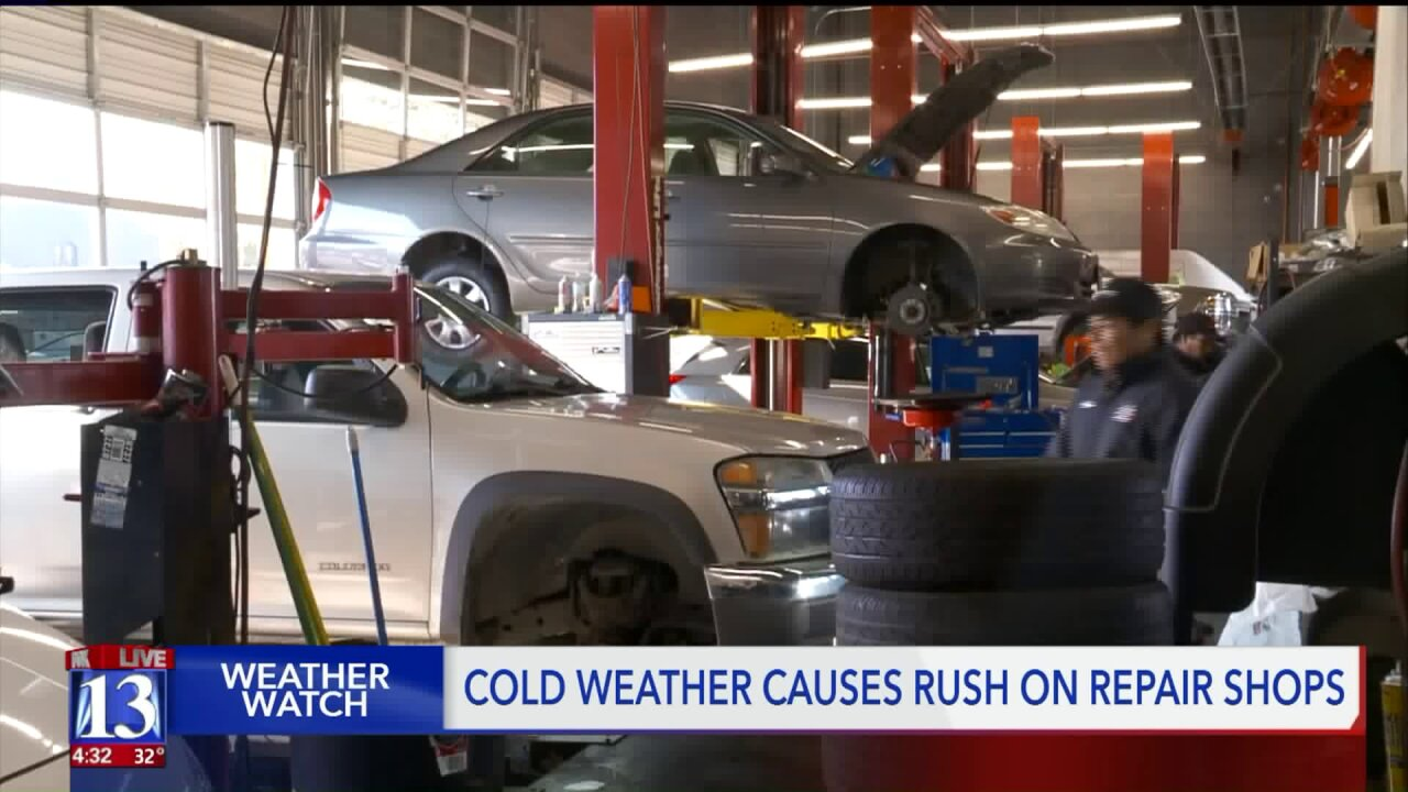 Cold snap sends Utah drivers rushing for carservicing