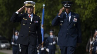 CSAF Brown, ACC welcome French Air Force
