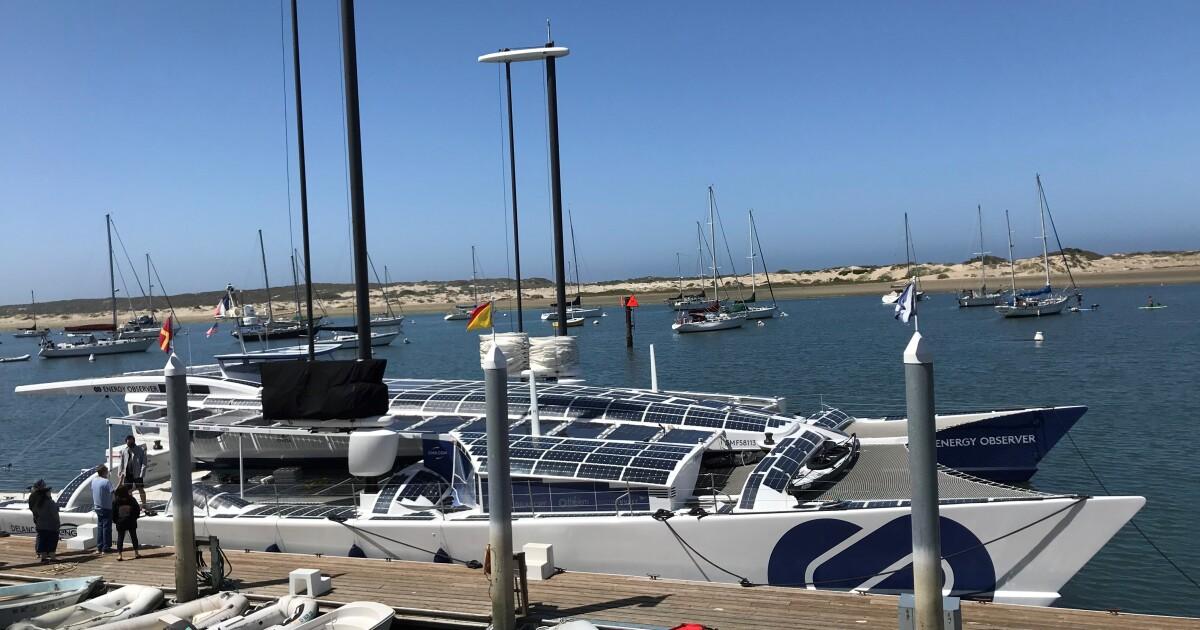 Hydrogen, wind and solar-powered boat docks in Morro Bay