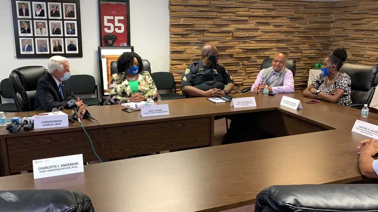Crist and St. Pete officials meet to discuss growth in violence