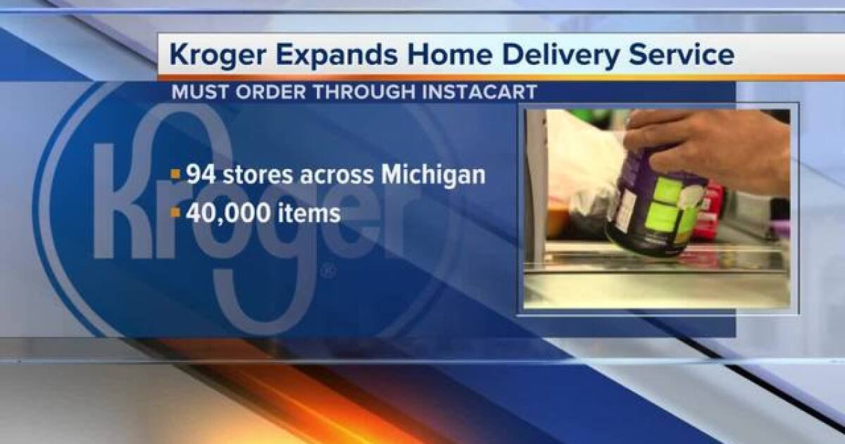 Kroger expanding home delivery service in Michigan