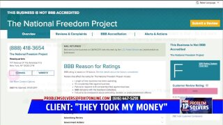 'The National Freedom Project' allegedly pocketed cash, provided no attorney