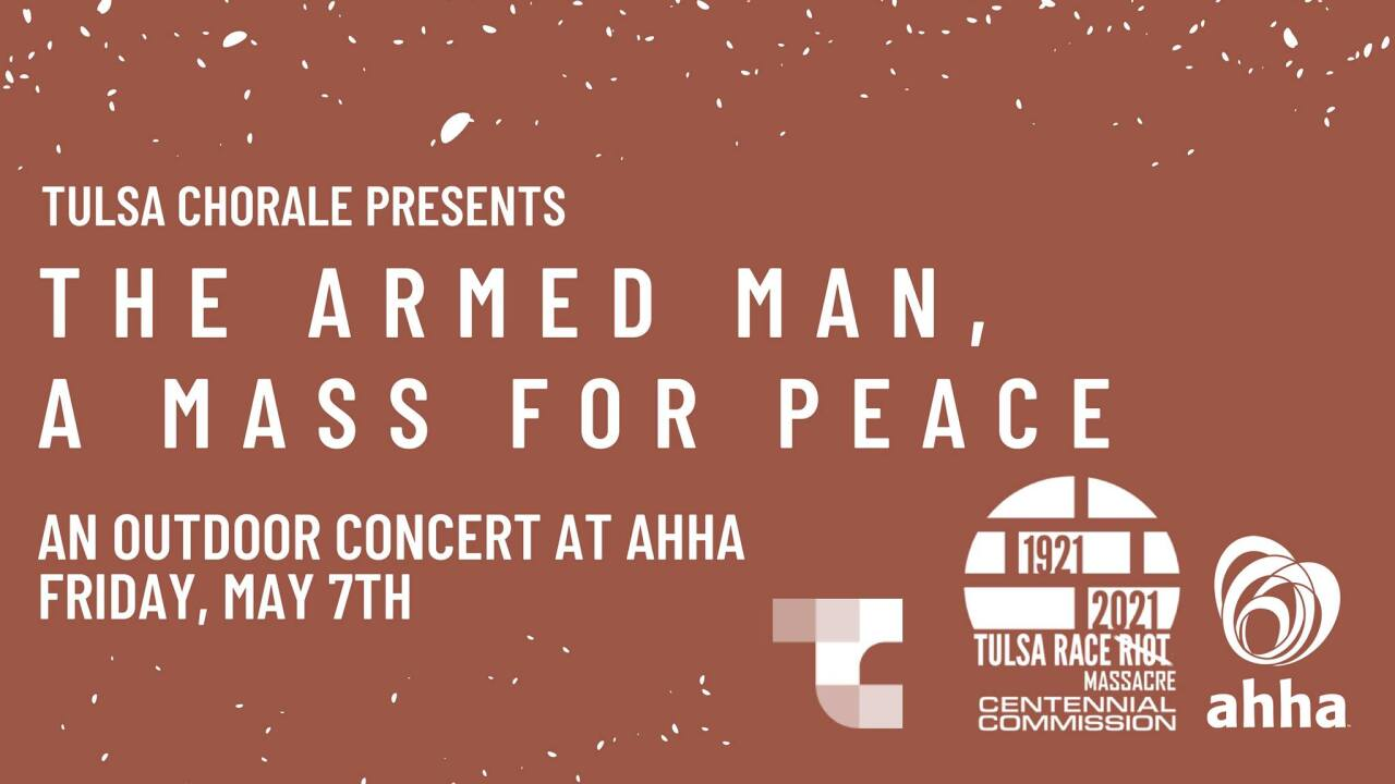 Tulsa Chorale's flyer for The Armed Man performance