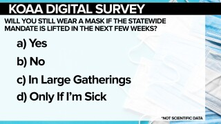 Will you still wear a mask if the statewide mandate is lifted in the next few weeks