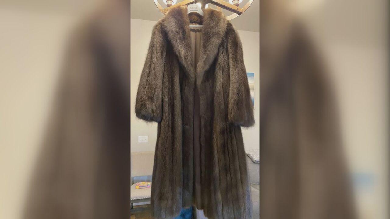 Fur coat sold on eBay