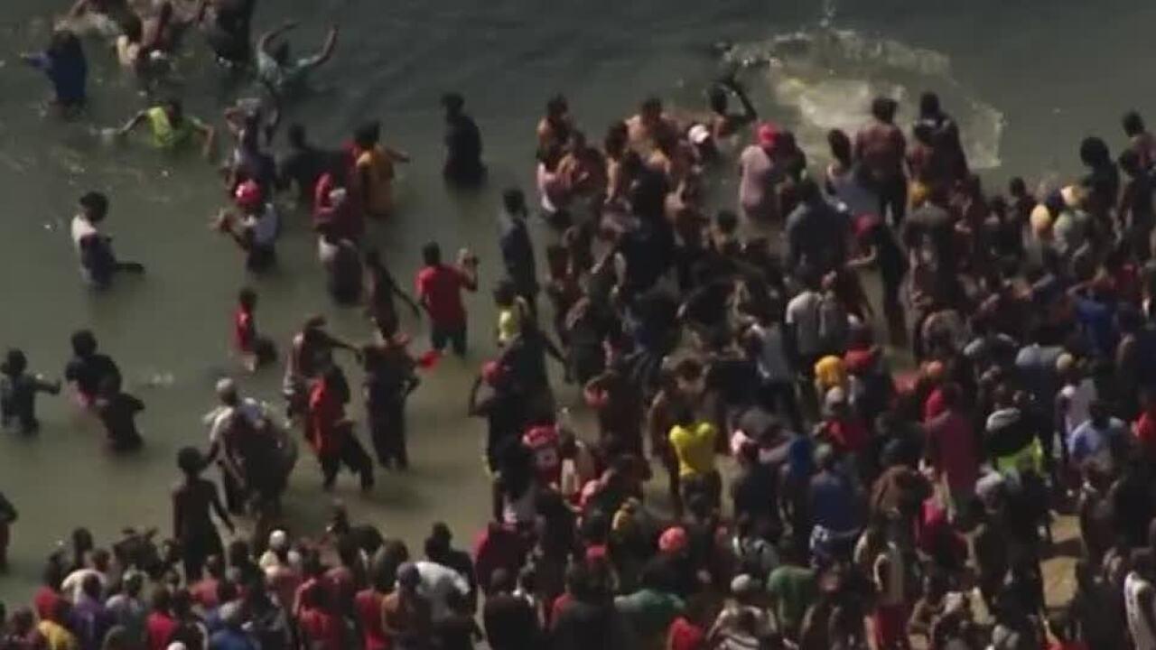 Haitians Del Rio, Texas Border