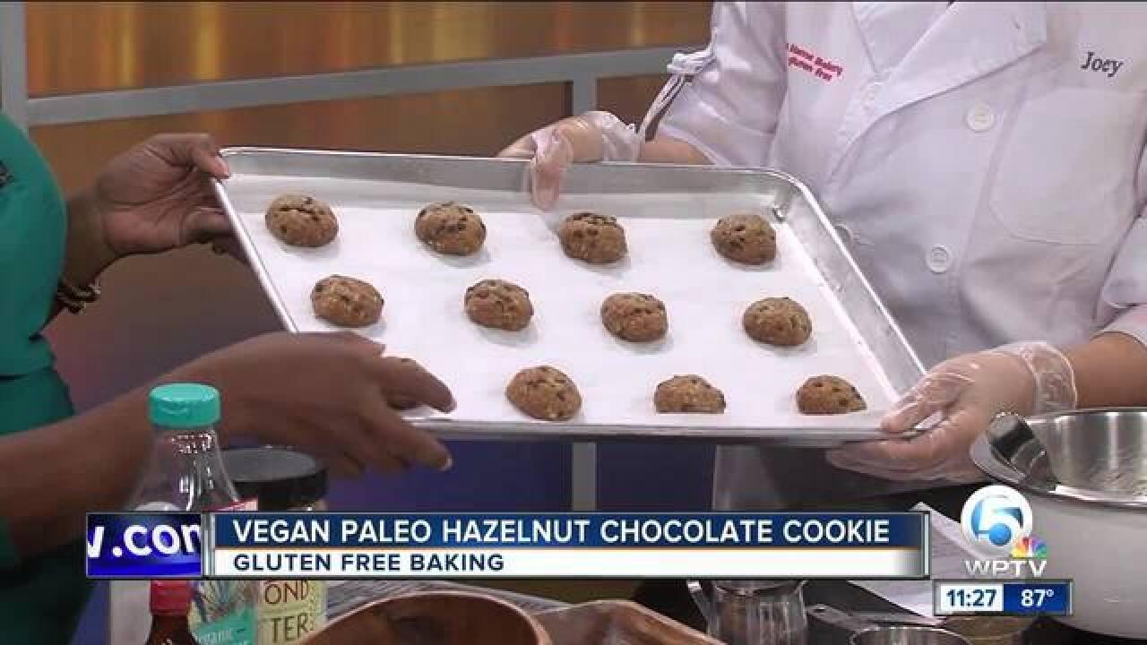 Vegan paleo hazelnut chocolate cookie recipe (9/26/18)