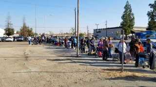 Food distribution event in Central Bakersfield