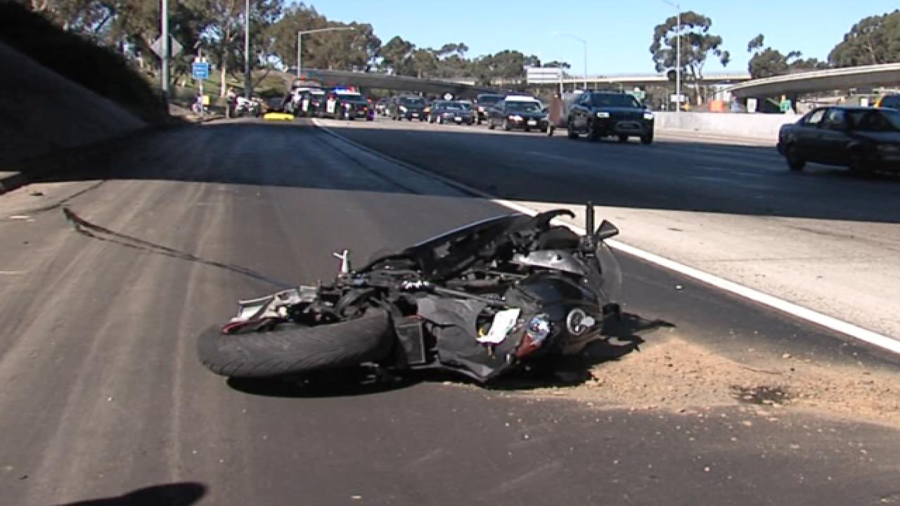 Motorcyclist fatally struck in highway crash