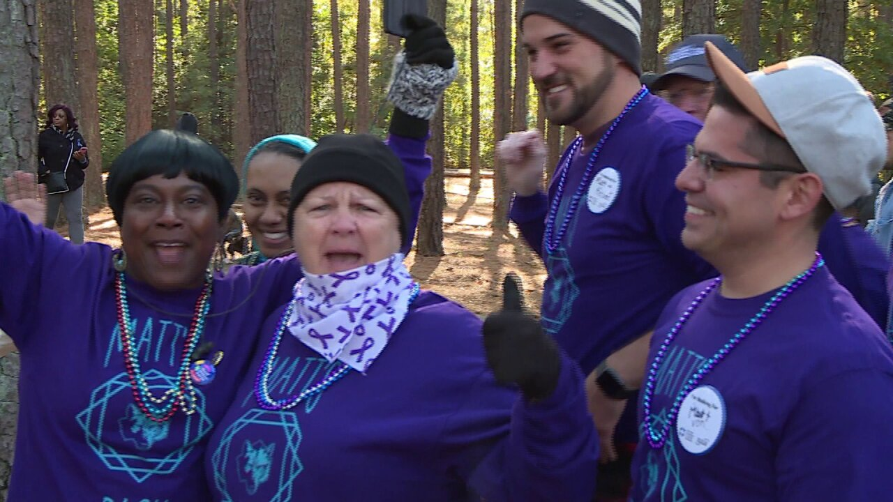 Hundreds walk to stop suicide at the 'Out of the Darkness' communitywalk
