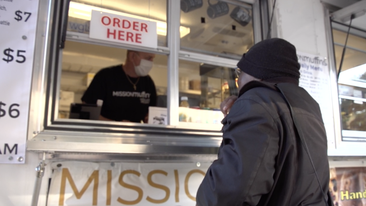 After the pandemic forced its closure last year, Mission Muffins recently reopened their food trailer, which caters to people who live in the neighborhood and those who are heading to work in Washington, D.C.