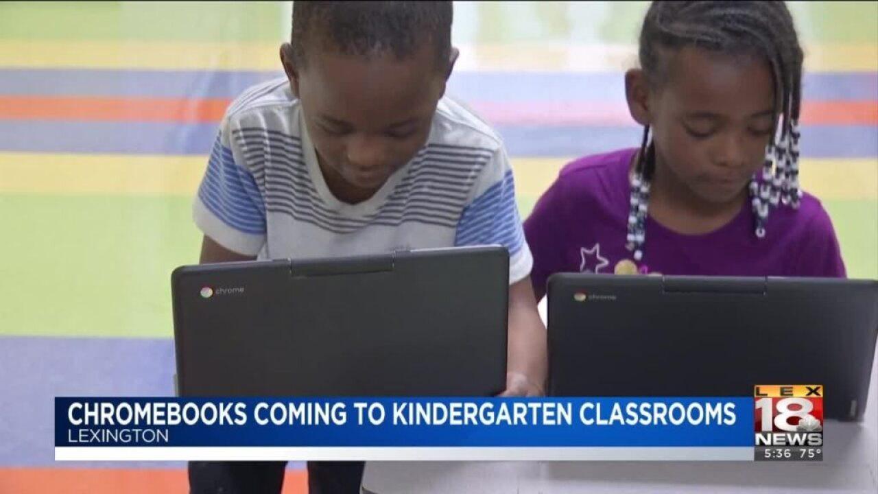 Donation Brings Chromebooks To Kindergarten Classrooms