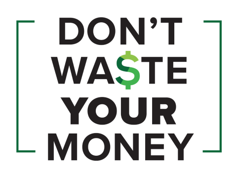 Don't Waste Your Money logo