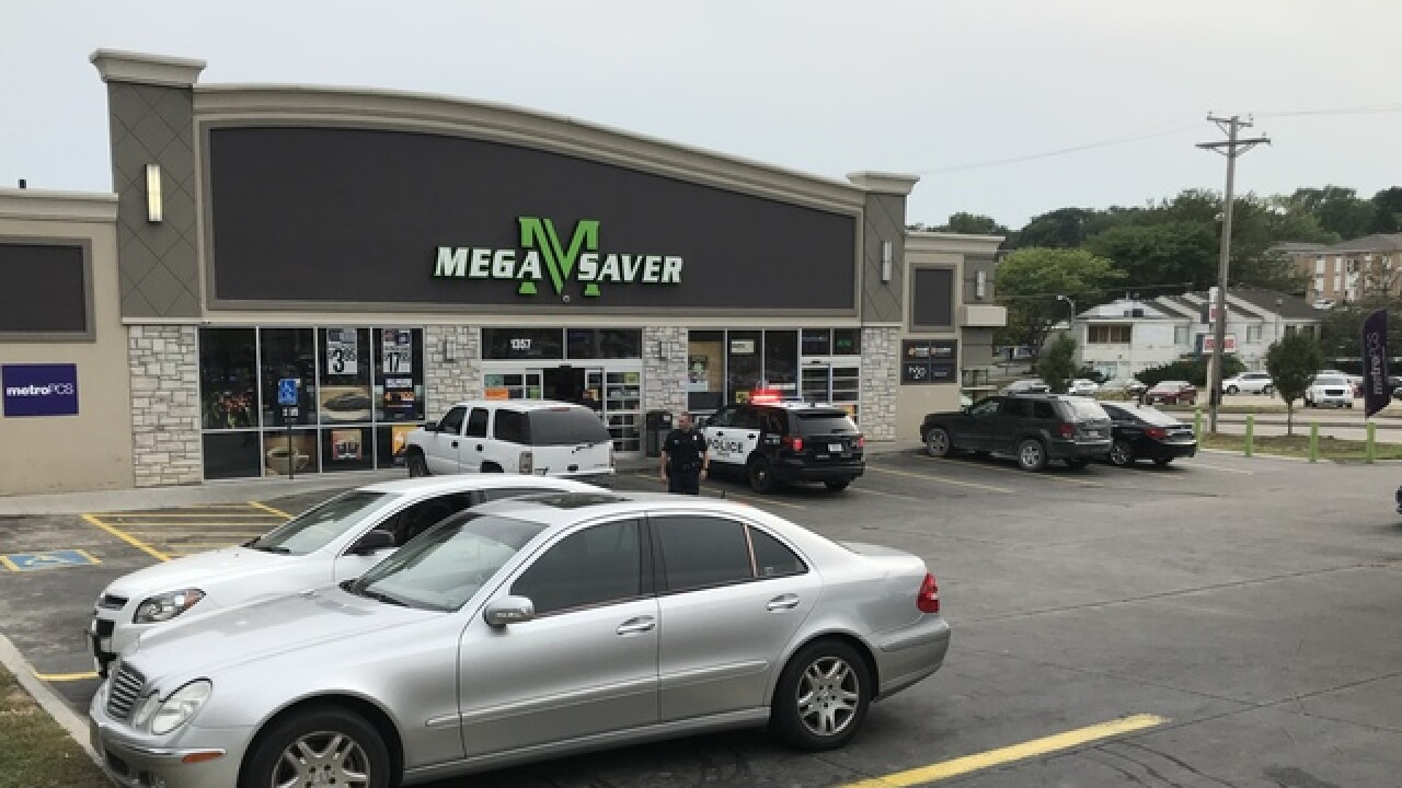 Police respond to shooting victim at Mega Saver