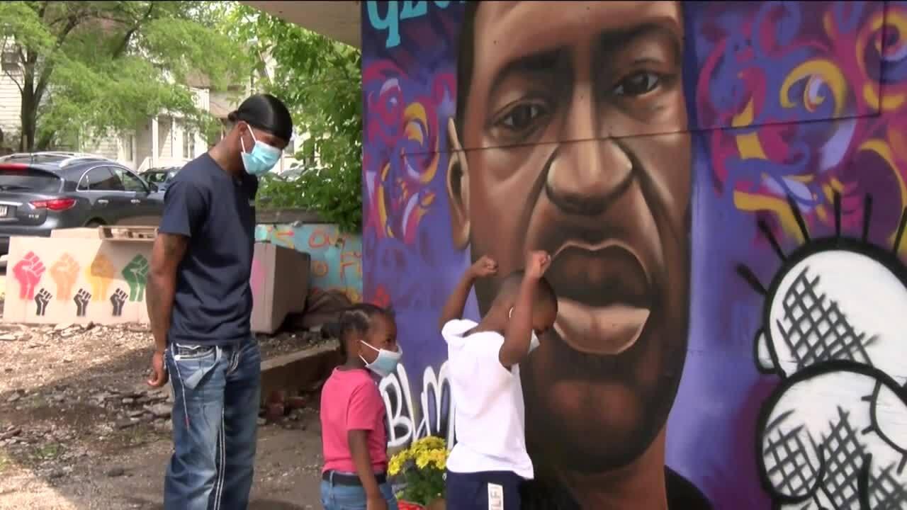 George Floyd mural Milwaukee