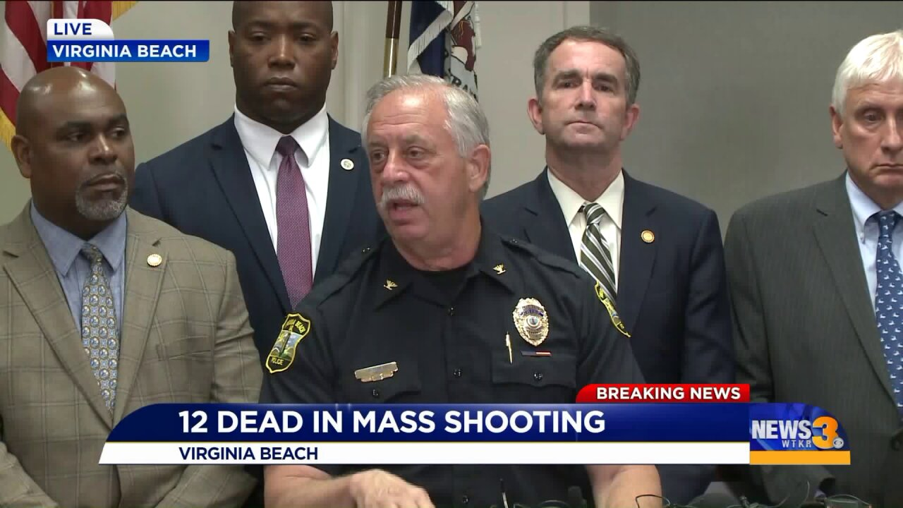 Police engaged in 'long-term gun battle' during Virginia Beach fatal mass shooting