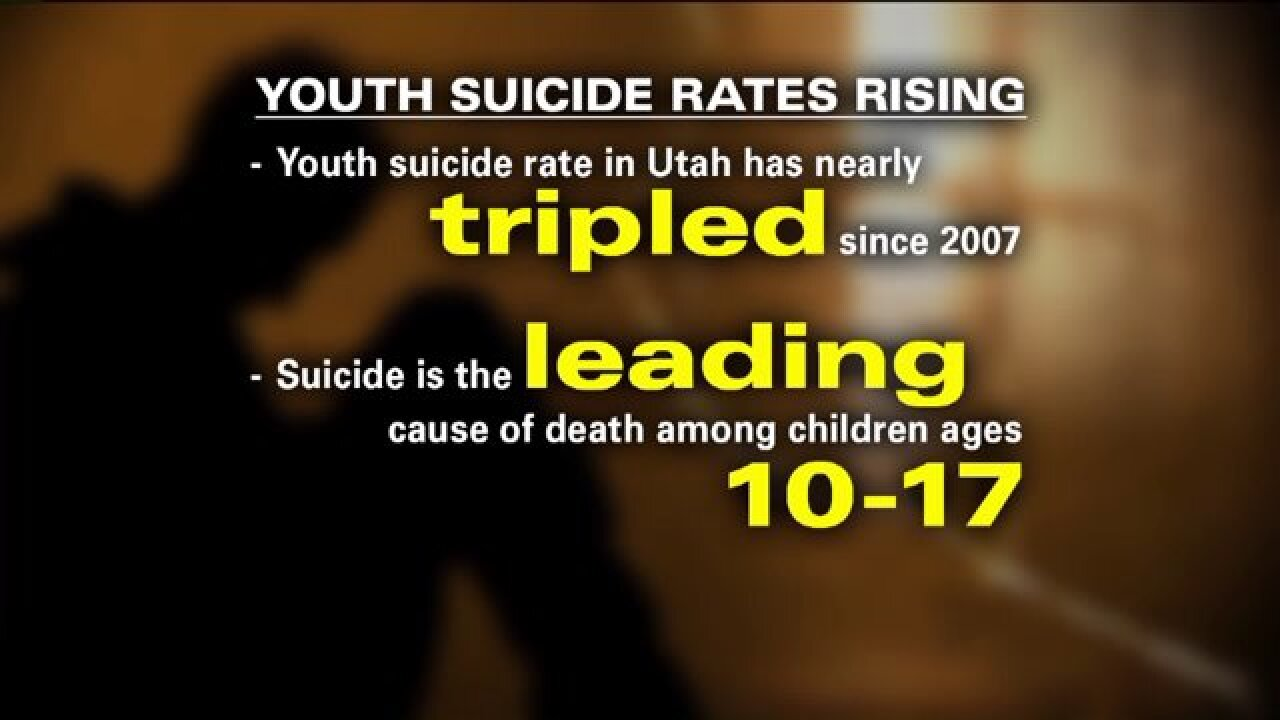 Suicide now leading cause of death for Utahns ages10-17