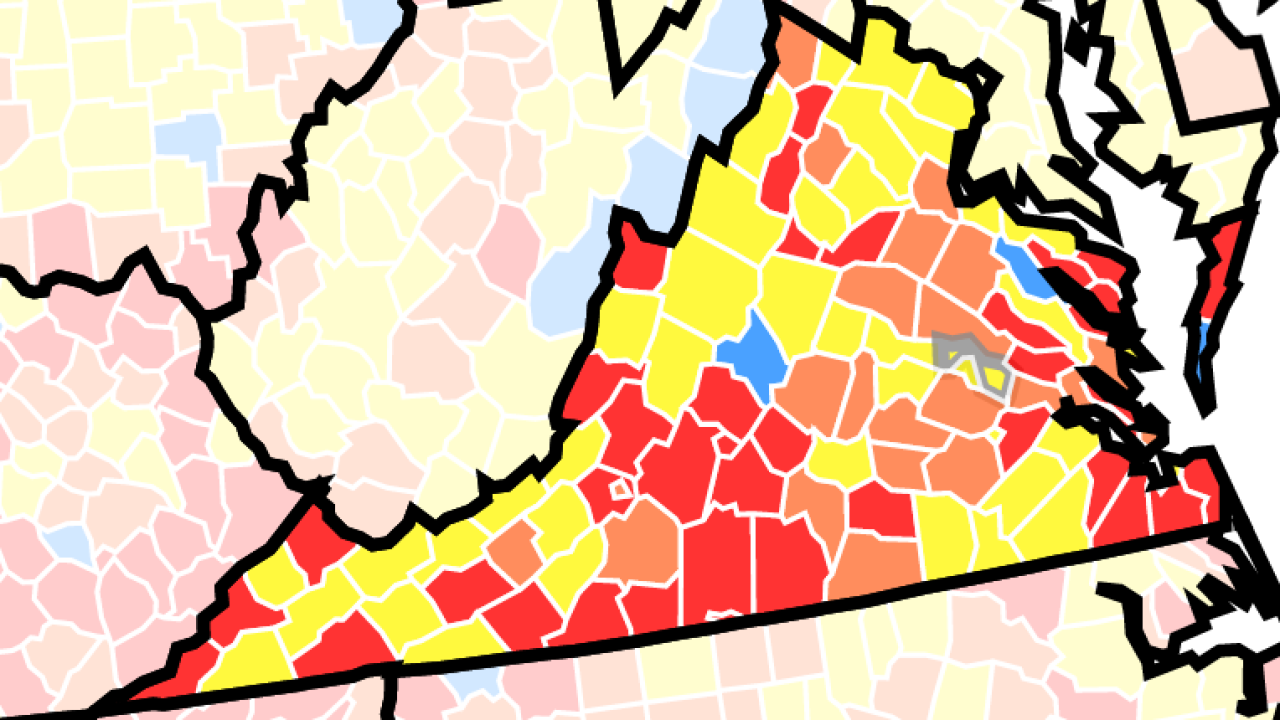 These Virginia counties fall under updated CDC mask guidance