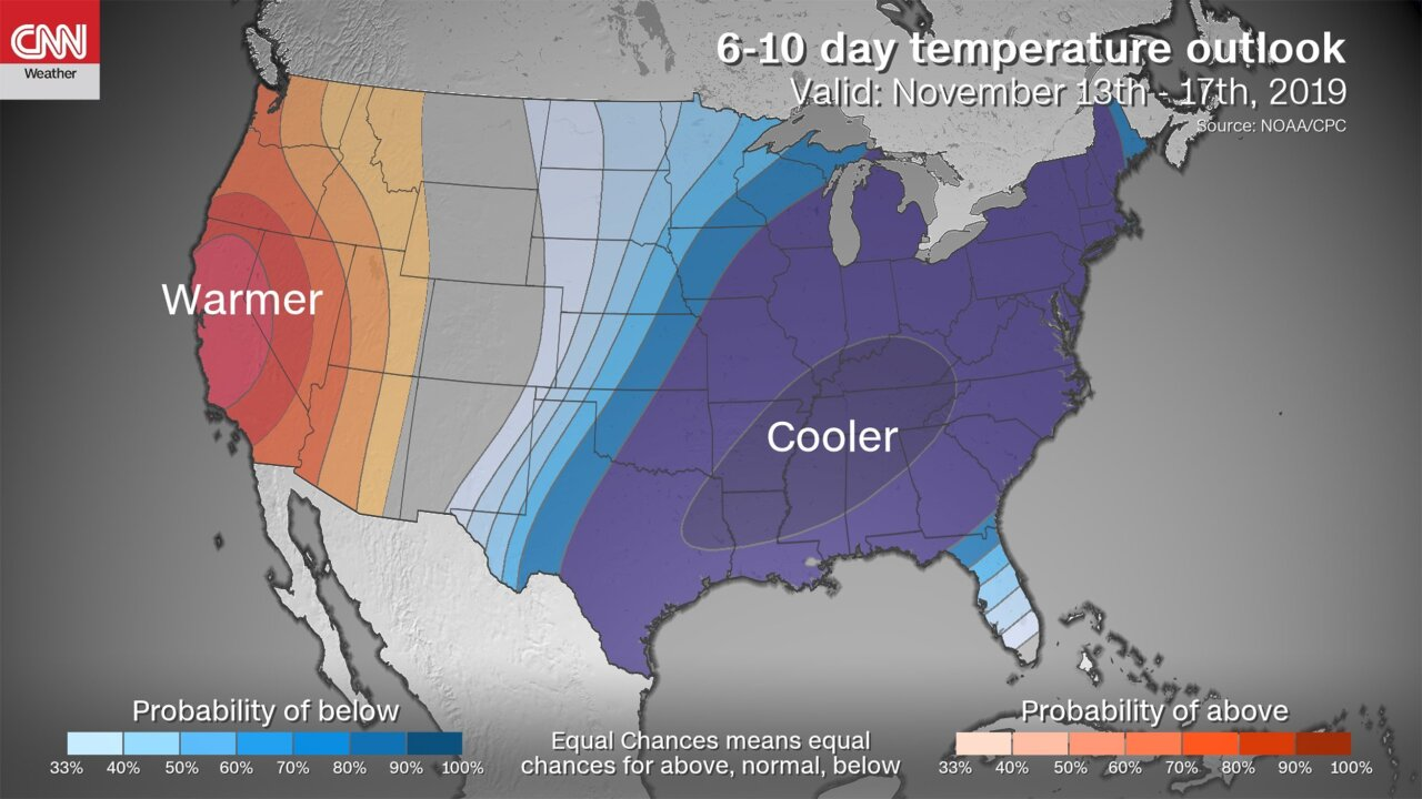 Eastern United States to experience freezing temperatures next week