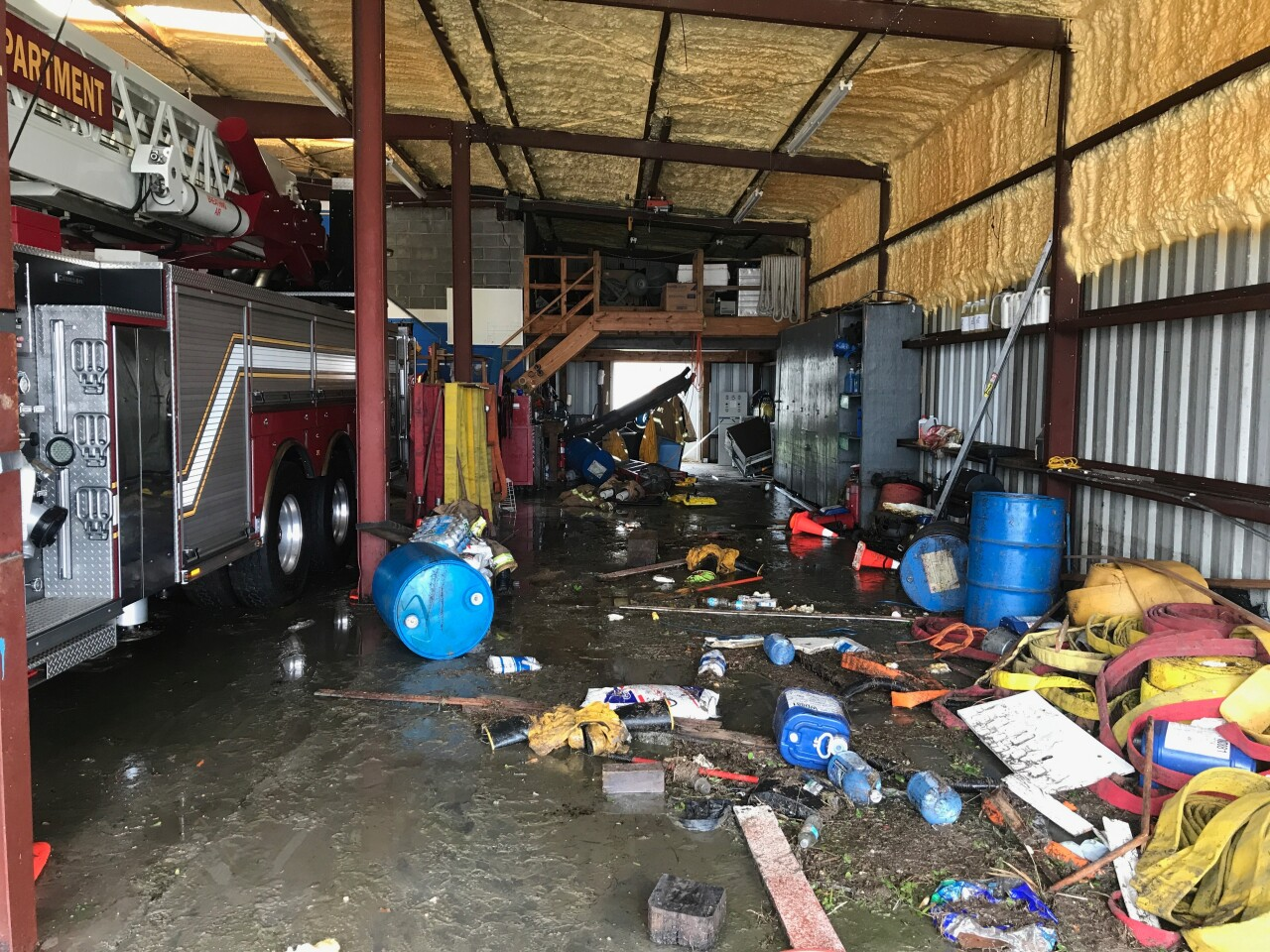 Port Aransas fire station after Hurricane Harvey