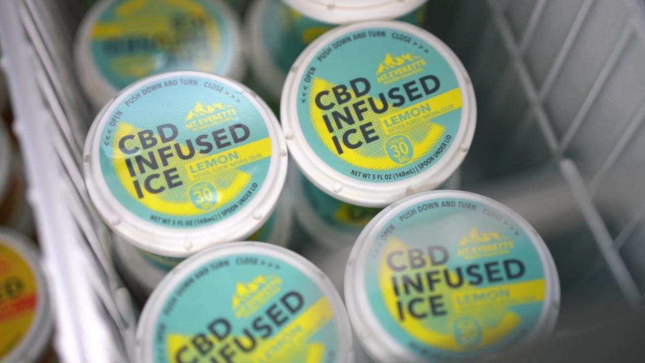 Popular family ice cream shop introduces CBD-infused Italian ice