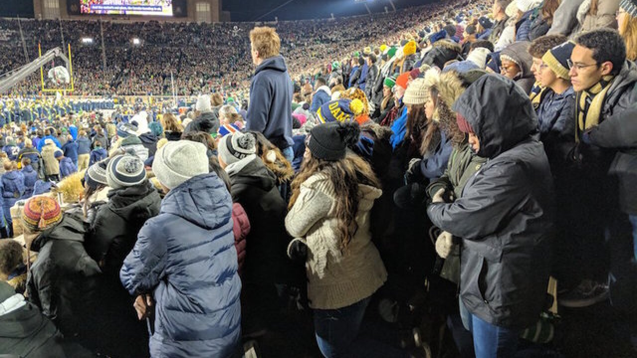 Catholic faith led 100 Notre Dame students to kneel during national anthem before football game