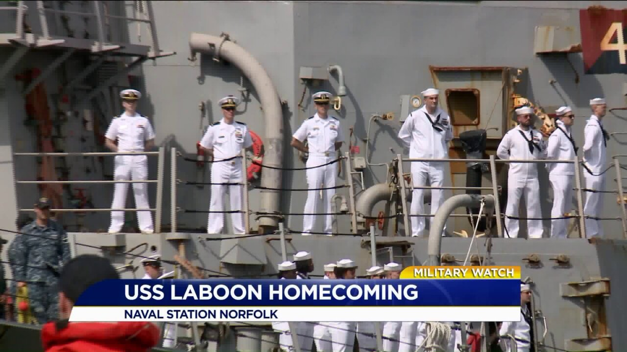 USS Laboon returns from deployment